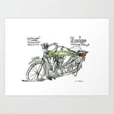 RUDGE, 1911 motorcycle, UK Art Print