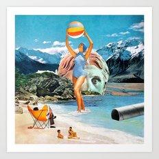 Poseidon in Love Art Print