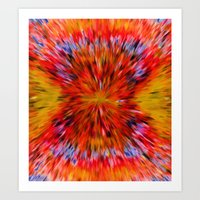 Splattered 60's - Painting Style Art Print