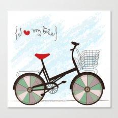 I {❤} My Bike Canvas Print