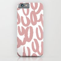 Mauve brushy pattern - classy college student collection iPhone 6 Slim Case