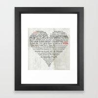 I hate love Framed Art Print