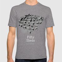 50 Sheds of Grey Mens Fitted Tee Tri-Grey SMALL