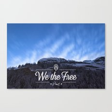 Mountain Sky Wethefree Canvas Print