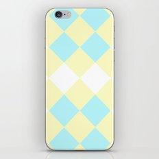 Checkers Yellow/Blue iPhone & iPod Skin
