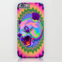 iPhone & iPod Case featuring Prismatic Panda  by Andre O Gray