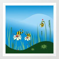Bumblebees Art Print