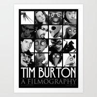 Tim Burton - A Filmograp… Art Print