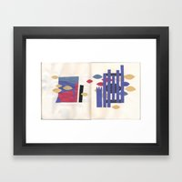 sketchbook collage Framed Art Print