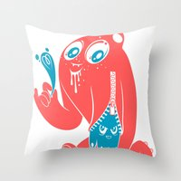 Ink Stain On My Heart Throw Pillow