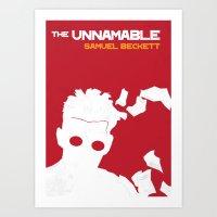 The Unnamable - Samuel Beckett Art Print