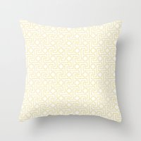 Textile Inspired Throw Pillow