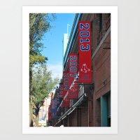 Red Sox - 2013 World Series Champions!  Fenway Park Art Print