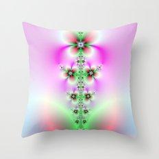 Flower Burst Throw Pillow