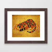 Mexican Candy Corn Snake Framed Art Print