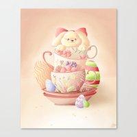 Teacup Bunny Canvas Print