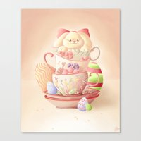 Teacup Bunny Canvas Print
