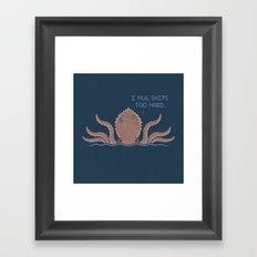 Monster Issues - Kraken Framed Art Print