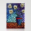 You Cant Hide Beautiful - Lively floral by Labor of Love artist Sharon Cummings. Stationery Cards