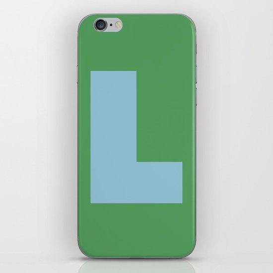 Light Blue L iPhone & iPod Skin