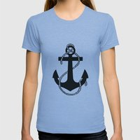 Anchor Womens Fitted Tee Athletic Blue SMALL