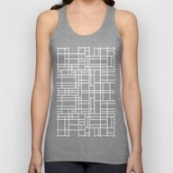 Stained Glass W Unisex Tank Top