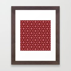 Brick Red Spheres Framed Art Print