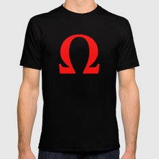 Ω omega SMALL Mens Fitted Tee Black