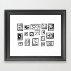 very valuable stamps Framed Art Print
