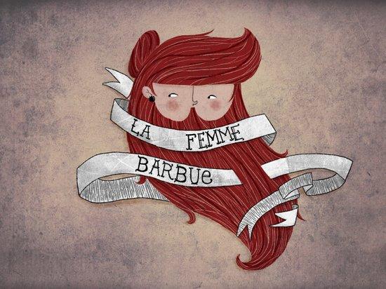 Bearded woman Art Print