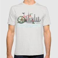 Urban Winter Cycling Mens Fitted Tee Silver SMALL