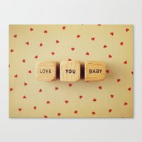 Love You Baby Canvas Print