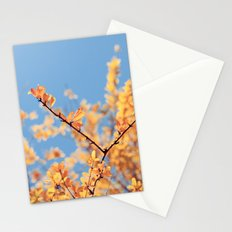 golden fall Stationery Cards