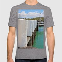 Gleaming White Harbor Bo… Mens Fitted Tee Tri-Grey SMALL