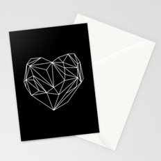 Heart Graphic (Black) Stationery Cards