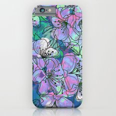 Little Purple Flowers Slim Case iPhone 6s