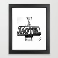 Cool Cat Motel Framed Art Print