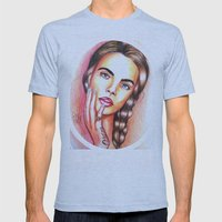 Cara Delevingne Mens Fitted Tee Athletic Blue SMALL