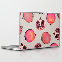 summer Laptop & iPad Skins featuring Pomegranate Pattern by Georgiana Paraschiv