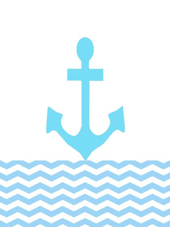 Aqua Anchor Canvas Print