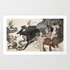 Internal Conflict Art Print
