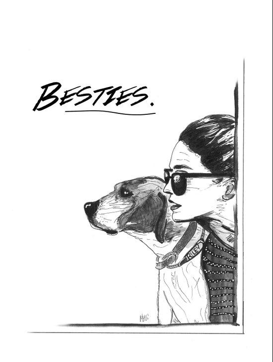 Besties Art Print