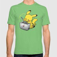 Pikatoast Mens Fitted Tee Grass SMALL