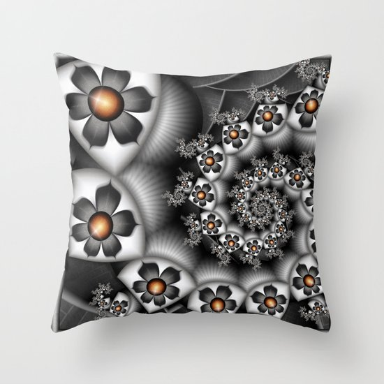 Orange Fan. Throw Pillow