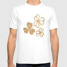 PAPERCUT FLOWER 4 Mens Fitted Tee White SMALL