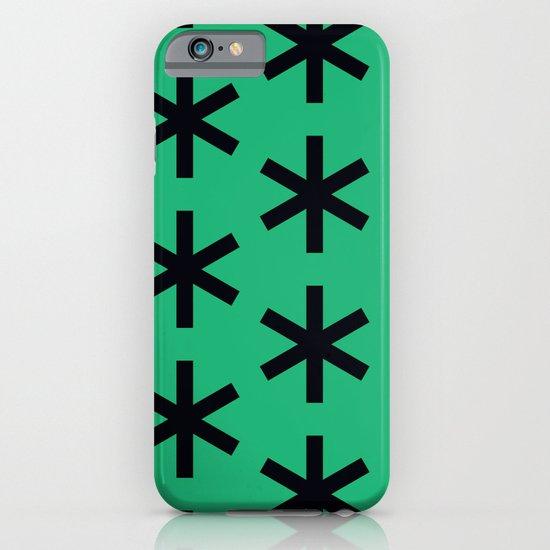 Vondel Black on Green Pattern iPhone & iPod Case