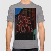 Coffee Cocktails Mens Fitted Tee Athletic Grey SMALL
