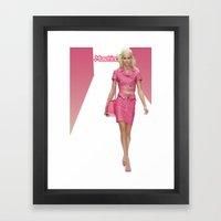 MOSCHINO RUNWAY BARBIE G… Framed Art Print