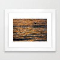 water sunset  Framed Art Print