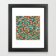 Framed Art Print featuring Knitted Colors by Graphsco